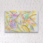 """Dancing with lemons... 2020 50"""" x 60"""" unframed on canvas"""
