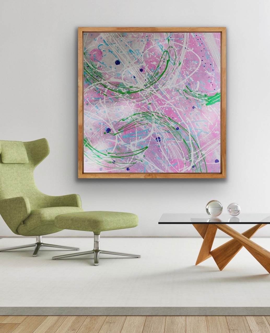 puzzled 2020, abstract painting by Michelle Capizzi