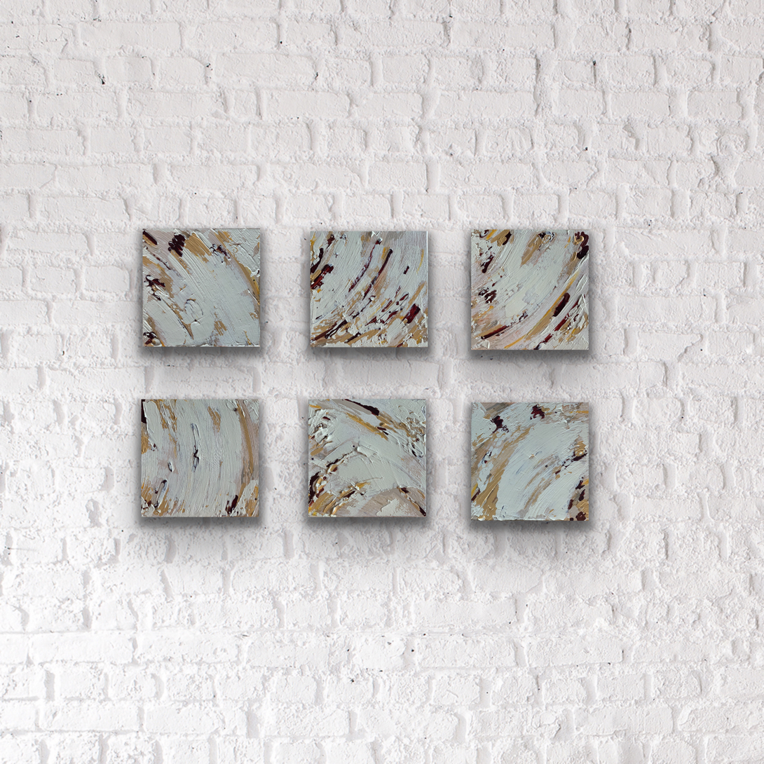 crust, abstract art 12x12 series by michelle capizzi