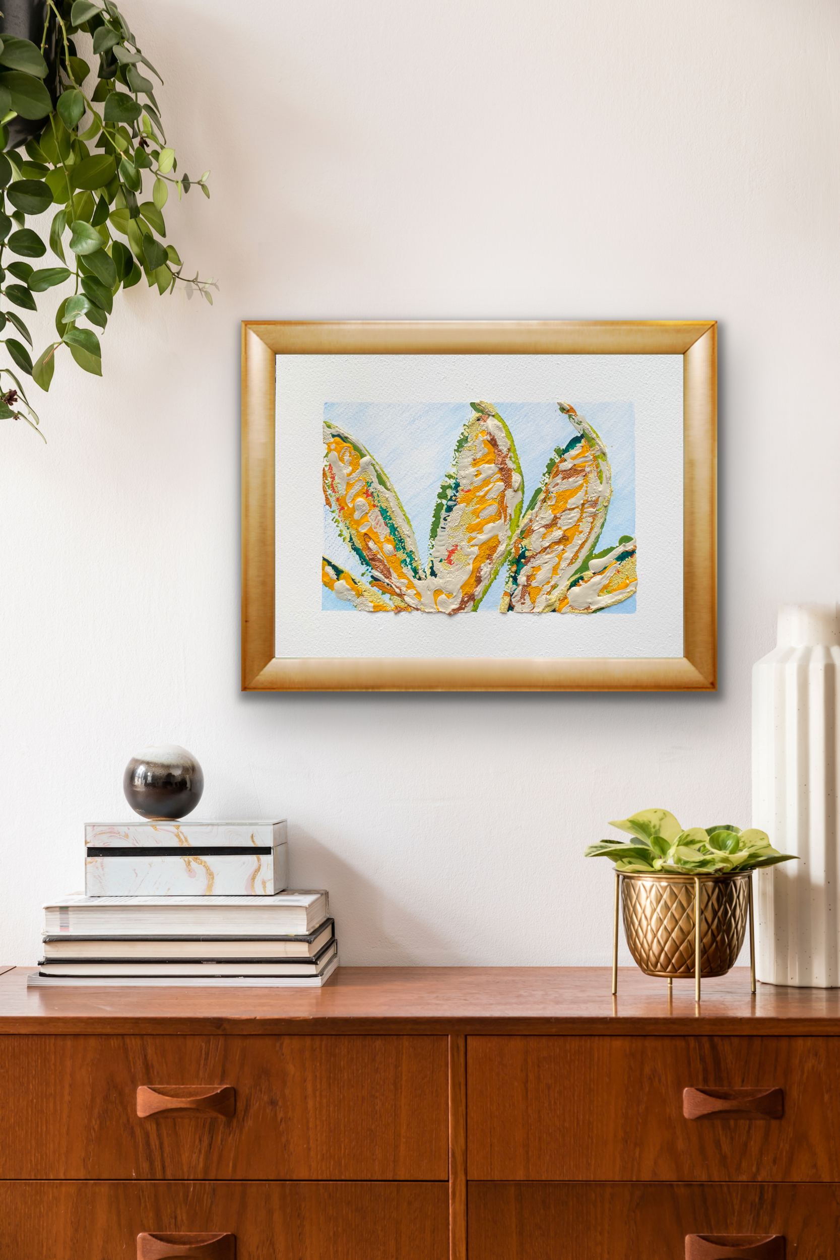 Harvest abstract painting by Michelle Capizzi